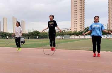 兰州西站中考体育-跳绳训练